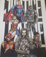 Justice League Movie Print by Alyse Stewart