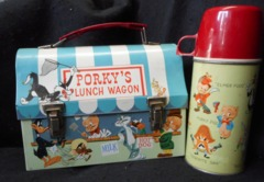 PORKY'S LUNCH WAGON DOME Lunch Box w/ Thermos © 1959 King-Seeley Thermos