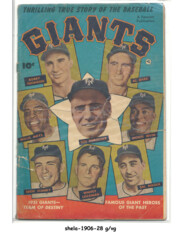 Thrilling True Stories of the Baseball Giants © 1952, Fawcett Publications
