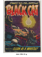 Black Cat Mystery #49 © April 1954, Harvey Comics