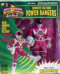Mighty Morphin Power Rangers Karate Kickin Kimberly Pink Ranger © 1994 Bandi