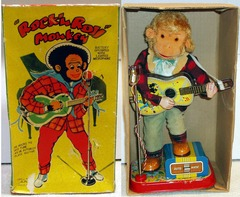 Rock'n Roll Monkey w/Box © Alps 1950s