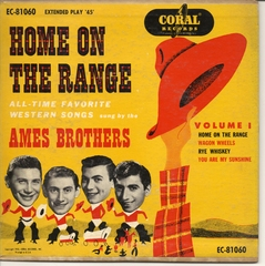 Ames Brothers, Home on the Range, part 1, Coral EC-81060 © 1953