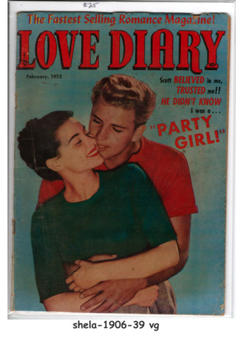 Love Diary #25 © February 1952, Orbit-Wanted