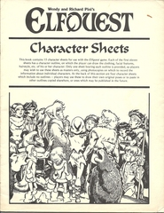 Elfquest Character Sheets © 1984 Chaosium