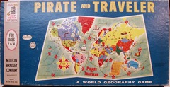 Pirate and Traveler, A World Geography Game © 1963 Milton Bradley 4563