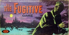 The Fugitive Board Game © 1964, Ideal 2247-5