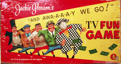 Jackie Gleason's Away We Go TV Fun Game © 1956, Transogram 3857