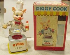 Piggy Cook w/ Box © 1950's Yonezawa
