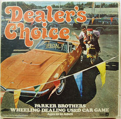 Dealers Choice Used Car Game © 1970 Parkers Brothers