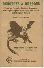 Dungeons & Dragons v1#2 Monsters & Treasure © 1974 Tactical Studies