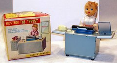 Miss Friday The Typist w/ Box © 1950s TN Toys