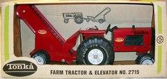 Farm Tractor & Elevator © 1970s Tonka 2715 w/ box