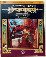 Dragon Lance DL3 Dragons of Hope © 1984 tsr 9131