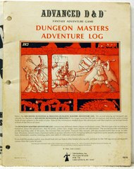 Dungeon Master's Adventure Log (1st Printing, Wizard Logo) © 1980 TSR9036