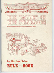 Valley of the Pharaohs Rule Book © 1983 Palladium Books