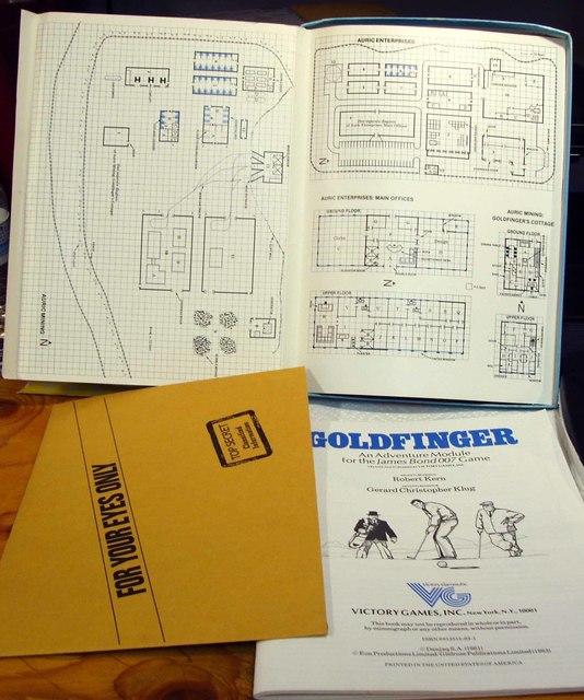 James Bond 007 Goldfinger RPG © 1983 Victory Games #35003
