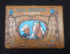 Roy Rogers Saddlebag Vinyl Lunchbox © 1960 American Thermos Products