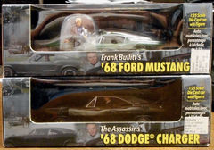 Steve McQueen Bullitt Cars 1968 Mustang & Charger © 2001 Revell Diecast w/figs
