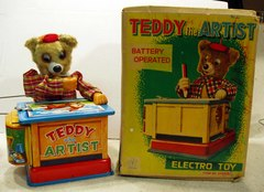 Teddy the Artist w/ Box © 1950s Yonezawa 10458