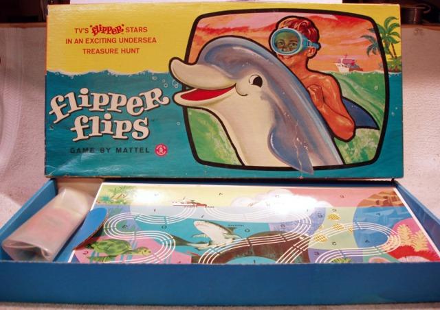 Flipper Flips Game © 1965 Mattel - Games » Board Games » Vintage