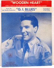 Wooden Heart © 1960 Elvis Presley Photo Cover G.I. Blues