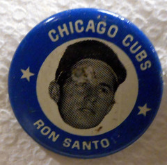 Ron Santos Chicago Cubs © 1969 Pinback