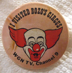 I Visited Bozo's Circus @ WGN-TV Channel 9 (1961-1963) Pin Back