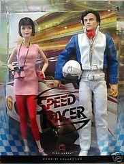 Barbie & Ken SPEED RACER & TRIXIE © 2007 Mattel NRFB