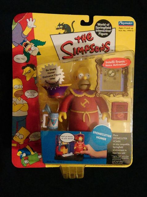Simpsons Series 10  Stonecutter Homer Action Figure Playmates 199416