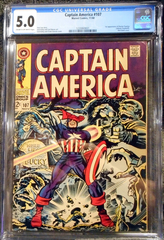 Captain America #107 © November 1968, Marvel CGC 5.0