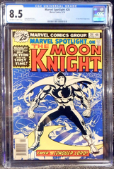 Marvel Spotlight #28 (Jun 1976, Marvel) 1st solo Moon Knight CGC 8.5
