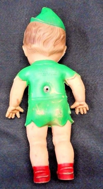 Peter Pan Baby Doll © 1950's W. Disney Production Sun Rubber