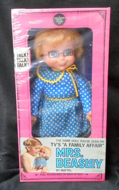 Mrs Beasley Talking Doll © 1966 Mattel 5807 NRFB