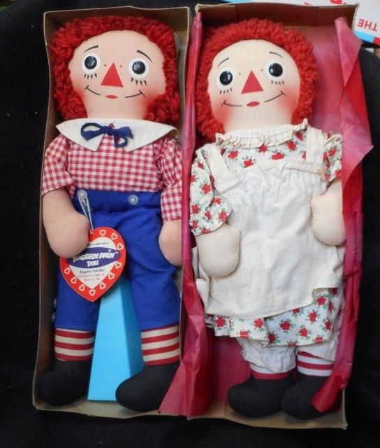 Raggedy Ann & Andy Dolls © 1964 Knickerbocker