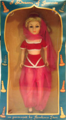 I Dream of Jeannie Doll w/ Box © 1966 Libby Majorette Doll Corp
