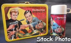 Man From UNCLE Lunch Box w/ thermos © 1966, King Seeley