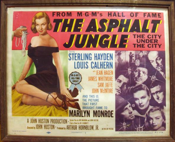 Asphalt Jungle Lobby Card #1 Title Card © 1954 MGM/Lowe's Marilyn Monroe