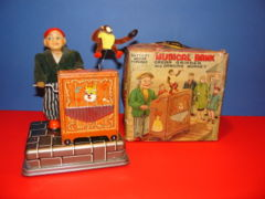 Musical Bank, Organ Grinder w/ Monkey  W/Box © HTC