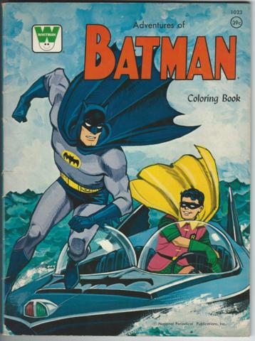 Adventures of Batman Coloring Book © 1966 Whitman #1023 - Books ...
