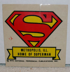 Metropolis, IL Superman Sticker © 1972 DC Comics