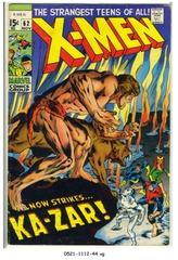 The X-MEN #062 © 1969 Marvel Comics