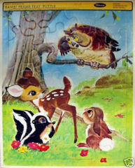 Walt Disney's BAMBI, THUMPER, FLOWER © 1966 Whitman Tray Puzzle 4507