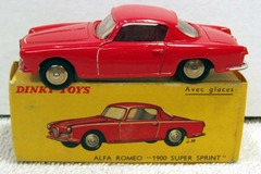 Alfa Romeo 1900 Super Sprint © 1960s French Dinky Toys 24J w/ Box