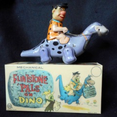 Flintstone Pals Fred Riding Dino © 1962 Marx Linemar