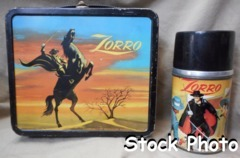 Zorro Lunch Box w/ Thermos © Aladdin 1958