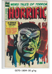 Horrific #13 © September 1954 Comic Media