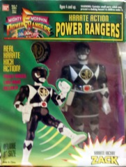 Mighty Morphin Power Rangers Karate Kickin Zack Black Ranger © 1994 Bandi