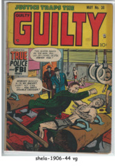 Justice Traps the Guilty #38 © May 1952, Prize Publication