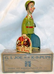 G. I. Joe and the K-9 Pups w/Box © 1940s Unique Arts